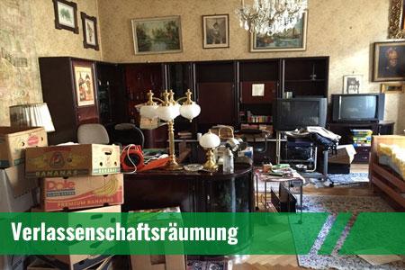 Verlassenschaftsräumung in Wien und Nö